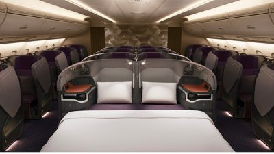 What is the Business class A380 In-flight Amenities of Emirates Airlines?